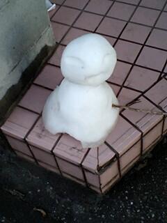 雪かきのついで?